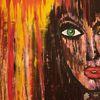 Acrylmalerei, Menschen, Expressionismus, Anfängerin