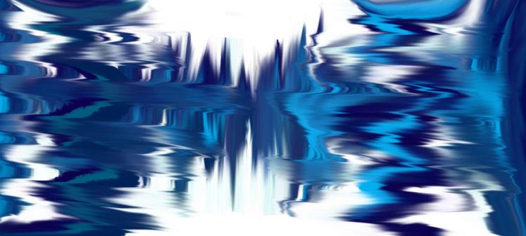 Blau, Nachtleben, Verwirren, Digitale kunst