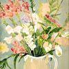Gartenstrauss, Martha krug, 1978 gemalt, Aquarell
