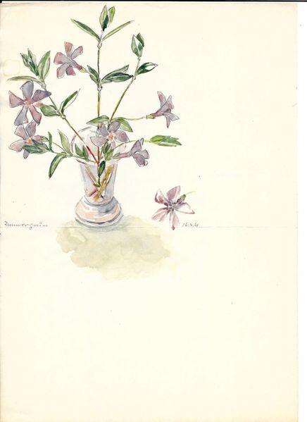 1961, Aquarellmalerei, Martha krug, Aquarell