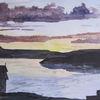 Landschaft, Reiseskizze, Aquarellmalerei, Aquarell