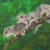 Siebenschläfer, Acrylmalerei, Tiere, Malerei