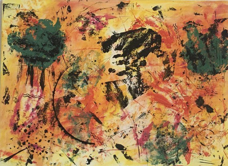 Acrylmalerei, Malerei abstrakt, Schwarz, Abstrakt, Bunt, Schwarzweiß