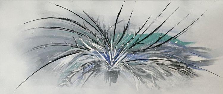 Schwarzweiß, Spachteltechnik, Schwarz weiß, Malerei, Acrylmalerei, Pinsel