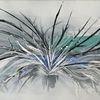 Malerei abstrakt, Pflanzen, Sprühen, Winter