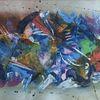 Spachteltechnik, Abstrakt, Acrylmalerei, Bunt