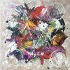 Malerei abstrakt, Bunt, Acrylmalerei, Spachteltechnik