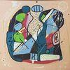 Tiere abstrakt, Abstrakte malerei, Bunt abstrakt, Abstraktes gemälde