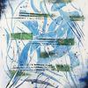 Blau abstrakt, Abstraktes gemälde, Alien abstrakt, Abstrakte malerei