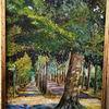 Baum, Licht, Straße, Malerei