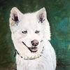 Hundeportrait, Malerei,