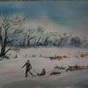 Winter, Aquarell