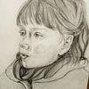Zeichnung, Mädchen, Zeichnungen, Skizze