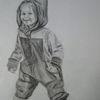 Bleistiftzeichnung, Kleinkind, Zeichnungen