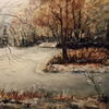 Natur, Wasser, Winter am weiher, Stimmung