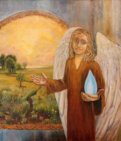 Landschaft malerei, Licht, Leuchtturm, Schönheit, Blumen, Malerei acrylmalerei