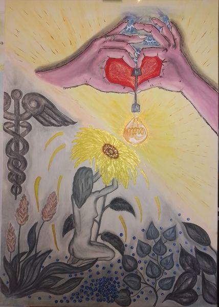 Acrylmalerei, Partnerbild, Malerei, Malen, Drauf, Zweisamkeit