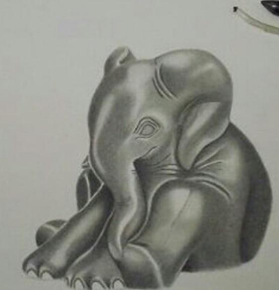 Zeichnung, Elefant, Tiere, Zeichnungen