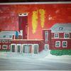 Feuerwache, Abstrakte malerei, Häuser, Landschaft