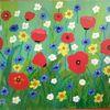 Blumenwiese, Abstrakte malerei, Blumen, Fantasie