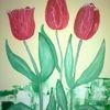 Tulpen, Abstrakte malerei, Blumen, Malerei