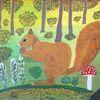 Fantasie, Abstrakte malerei, Tiere, Malerei