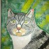 Katze, Abstrakte malerei, Tiere, Comic