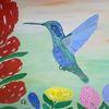 Abstrakte malerei, Tiere, Fantasie, Pflanzen
