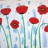 Mohn, Abstrakte malerei, Blumen, Malerei