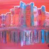 Abstrakte malerei, Fantasie, Landschaft, Malerei