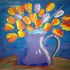 Blumen, Abstrakte malerei, Tulpen, Fantasie