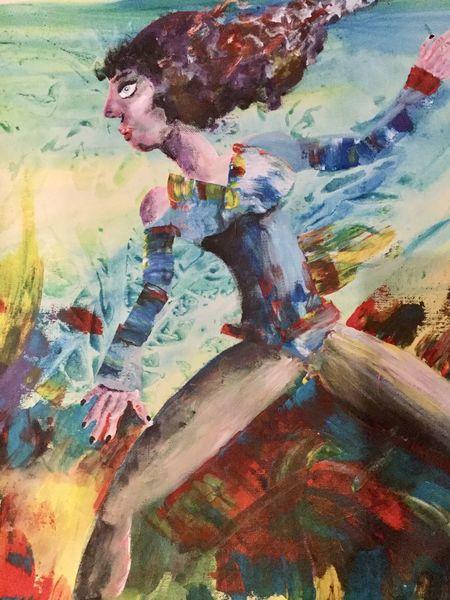 Frau, Poesie, Farben, Expressionismus, Malerei, Mädchen