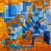 Geometrie, Teilung, Abstrakt, Aquarell