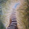 Licht, Wald, Treppe, Malerei