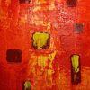 Fenster, Struktur, Rot, Malerei