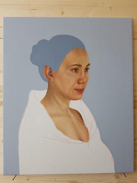 Ölmalerei, Portrait, Fotorealismus, Menschen, Malerei