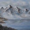 Braun, Berge, See, Natur