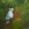 Blätter, Papagei, Palmen, Kakadu