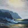 Landschaft, Welle, Meer, Gischt