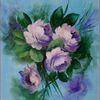 Natur, Strauß, Blau, Blumen