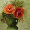 Orange, Malerei, Blüte, Rund