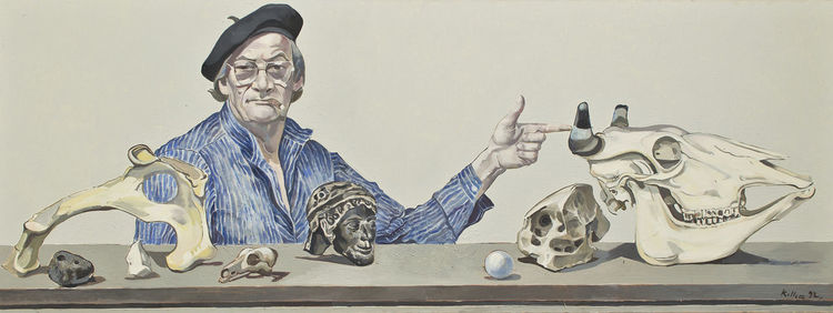 Menschen, Selbstportrait, Malerei, Ölmalerei, Figurativ, Portrait