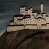 Pinnwand, Burg, Nacht