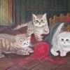 Katze, Britisch kurzhaar, Acrylmalerei, Malerei