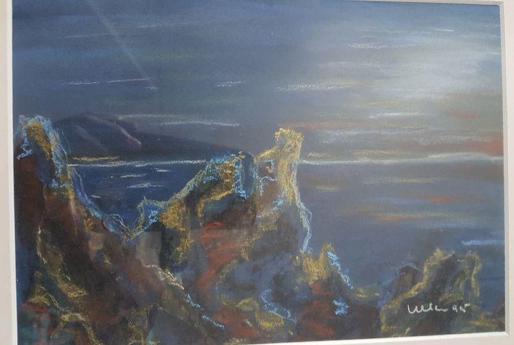 Meer, Himmel, Felsen, Malerei