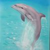 Wasser, Airbrush, Blau, Delfin