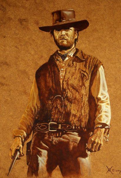 Hollywood, Clint eastwood, Western, Ölmalerei, Film, Malerei