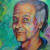 Acrylmalerei, Goageyer, Portrait, Malerei
