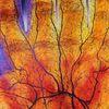 Hand, Blutgefäße, Malerei, Landschaft