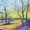 Morgensonne, Winter, Winterlandschaft, Baum